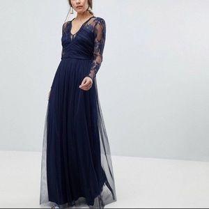 ASOS Navy Blue Maxi Dress